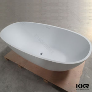 Small Simple Oval Stone Resin Freestanding Bathtub (BT1704271) pictures & photos