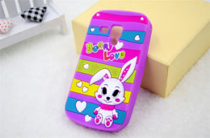 Colorful Stripe Love Rabbit Silicone Phone Case for iPhone 6 6plus 7plus (XSDW-014) pictures & photos