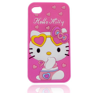 DOT Kitty Silicone Phone Case S6edge S7edge P8 P9lite P9 Phone Accessories (XSK-008) pictures & photos
