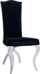 Modern Hotel Padded High Back Steel Cross Rear Legs Dining Chair pictures & photos