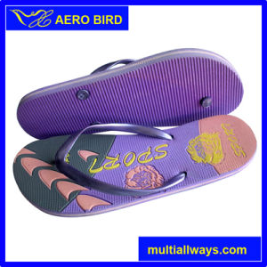 2016 EVA Fashion Women Flip Flop with Embossed Logo pictures & photos