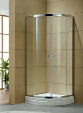 Quadrant Sliding Shower Room Tempered Glass Bathroom Cubicle Sliding Entry Door pictures & photos