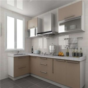 Eco-Friendly Lacquer Finish Kitchen in Black Piano Color pictures & photos
