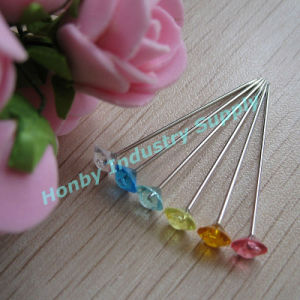 38mm Colorful Clear&Plastic Diamond Head Wedding Pins pictures & photos