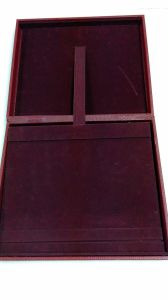 Wine Red Leather Jewelry Box pictures & photos