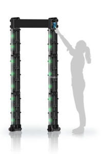 portable M-scope door frame metal detector with wheels for events pictures & photos