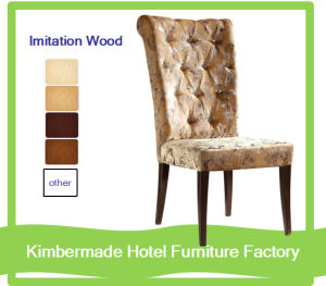 (AC12047) European Steel Imitation Wood Cloth Chair\Banquet Chair\Hotel Chair
