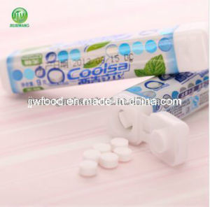 Coolsa Round Shape Refresh Mints in Plastic Case pictures & photos