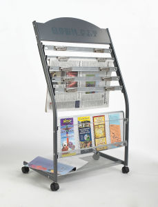 Metal Rotating Newspaper Stand