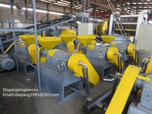 Waste Tyre Recycling Machine & Rubber Crusher Machinery for Tire Recycling Line pictures & photos