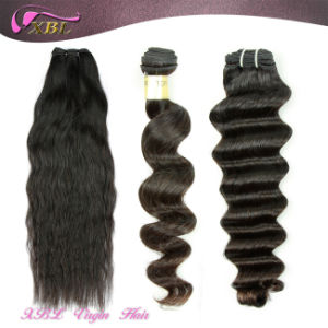 Natural Raw Human Hair Wavy 100% Peruvian Virgin Hair Extension pictures & photos