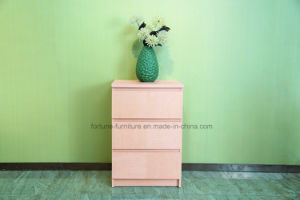Modern Wooden Birch Veneered Chest of 3 Drawers (N1015-3A) pictures & photos