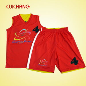 2016 Hot Sale Custom Sublimation Reversible Basketball Uniforms pictures & photos