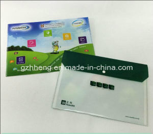 OEM Color Printed A4 Document Carrying File Plastic Folder Bag with Button Snap pictures & photos