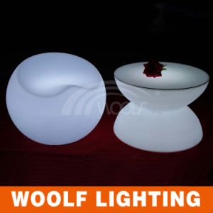 Modern Round LED Color Changing Light Coffee Table pictures & photos