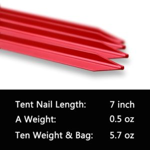 Carries Aluminium Tent Pegs Stake with Reflective Pull Cords & Pouch pictures & photos