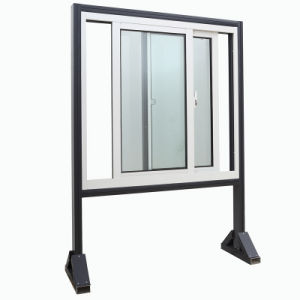 Double Plastic PVC / UPVC Sliding Glass Window