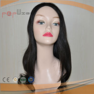 Brazilian Virgin Human Hair Black Lace Front Wig pictures & photos