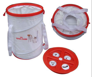 Foldable Nylon PVC Pop up Spiral Pet Food Bag with Cover