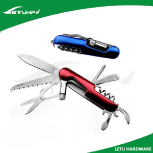 Metal Multi Functional Knife with LED Torch pictures & photos