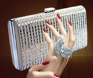Top Quality Handbags Handmade Rhinestone Evening Clutch Bags (XW796) pictures & photos
