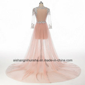 See Through Long Sleeves Tulle Sexy Wedding Dress pictures & photos