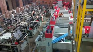Double-Line Hot-Sealing & Cold-Cutting T-Shirt Bag Bag Maker Machine pictures & photos