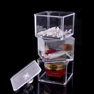 Acrylic Square Stackable Box with Cover, Suitable for Makup Storage pictures & photos