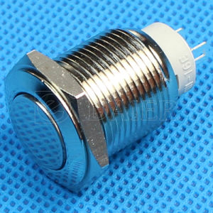 2pin Latching on off Push Button Switch (GQ-16FJ-L) pictures & photos