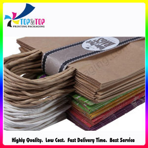 Handle Sealing Paper Material Kraft Paper Shopping Bag pictures & photos