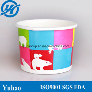8oz Food Grade Disposable Paper Yogurt Cups (YHC-062) pictures & photos