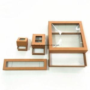 Custom PVC Window Jewelry/Ring/Necklace/Bracelet/Earrings Paper Gift Box