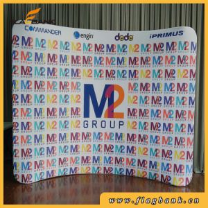 8FT Curved Portable Exhibition Banner Stand with Full Color Printing pictures & photos