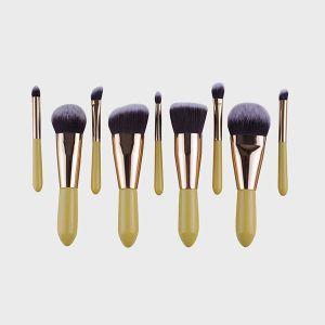 Antibacterial Soft Fiber Hair Makeup Tools Makeup Brushes 9 Pieces