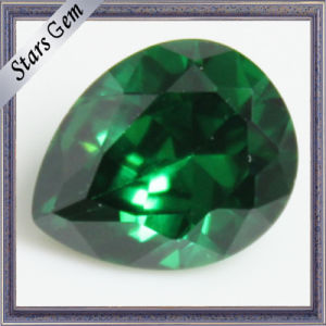 Pear Shape Emerald Green Cubic Zirconia for CZ Jewelry pictures & photos