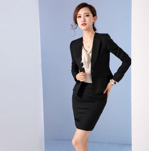 Made to Measure Fashion Stylish Office Lady Formal Suit Slim Fit Pencil Pants Pencil Skirt Suit L51617 pictures & photos