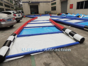 Newest sports game Inflatable zorb ball race track rolling down slope for event pictures & photos
