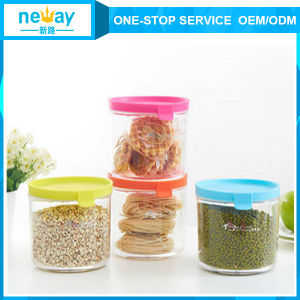 Neway Fashional Round Plastic Jar pictures & photos