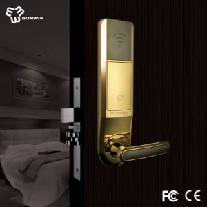 Bright Gold Electronic Digital Sliding Door Lock for Hotel/Home/Office pictures & photos