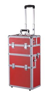 We Offer OEM Custom Colorized Aluminum Make up Trolley Case pictures & photos