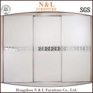 Wood Sliding Door Closet Wardrobe with White Colour PVC Door pictures & photos
