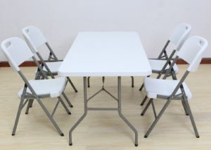 5FT HDPE Plastic Rectangular Folding Table pictures & photos