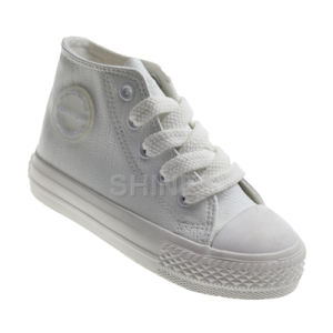 PU High Top Vulcanized Shoes for Children
