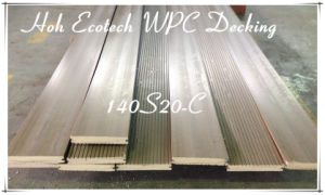 Grooved Wood Board External Anti-Split WPC Decking Embossing Timber Floor pictures & photos