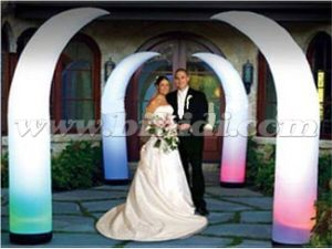 Lighting Inflatable Crescent Cone, Inflatable Ivory Wedding Decoration C3017 pictures & photos
