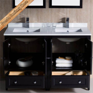 Fed-1069d 48inch Double Cupc Sinks Espresso Finishing Quartz Top New Designs Bathroom Vanity pictures & photos