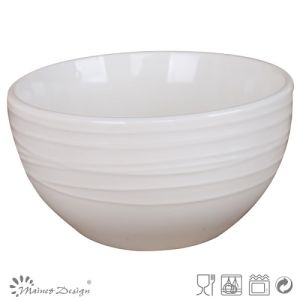 Simply Design White Porcelain Embossed Bowl pictures & photos