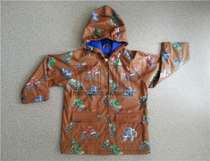 Fashion Waterproof Children Rain Jacket for Daily Use pictures & photos