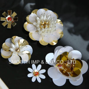 Fashion Flower Handmade Clothing Decoration Colourful Sequin Patch Dress Shoe pictures & photos