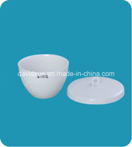 Laboratory Porcelain Crucibles Low Wall with Lid Glazed pictures & photos